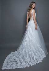Lace Detailed Sleeveless Bodice Tulle Skirt A-line Wedding Dress by Love by Pnina Tornai - Image 2