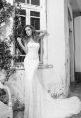 Strapless Lace Fit And Flare Wedding Dress by Love by Pnina Tornai - Image 1