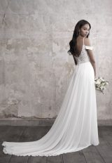 Detailed Sweetheart Bodice Silk Skirt A-line Wedding Dress by Madison James - Image 2