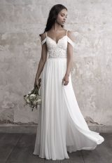 Detailed Sweetheart Bodice Silk Skirt A-line Wedding Dress by Madison James - Image 1