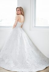Straight Strapless Floral Lace Ball Gown Wedding Dress by Madison James - Image 2