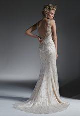 High Neckline Fully Beaded Sheath Wedding Dress by Maggie Sottero - Image 2