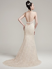 High Neckline Sleeveless Illusion Top Wedding Dress by Maggie Sottero - Image 2
