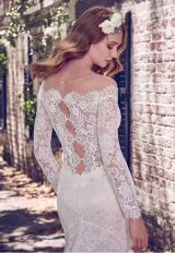 Illusion Off The Shoulder Lace Fit And Flare Wedding Dress by Maggie Sottero - Image 2