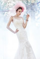 Illusion Top Beaded Fit And Flare Wedding Dress by Maggie Sottero - Image 1