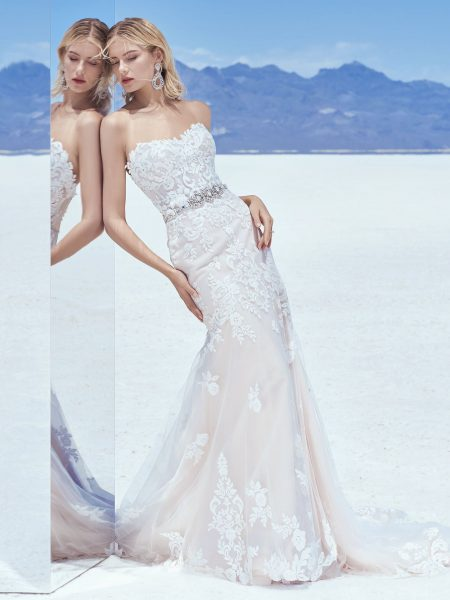 Sweetheart Neck Lace Applique Bodice Fit And Flare Wedding Dress by Sottero and Midgley - Image 1