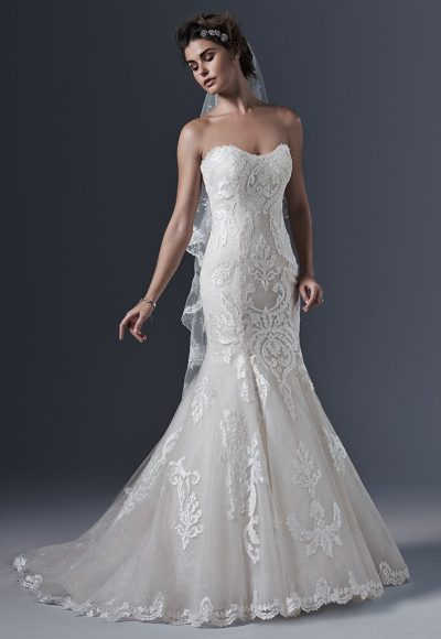 Sweetheart Neck Lace Mermaid Wedding Dress by Maggie Sottero