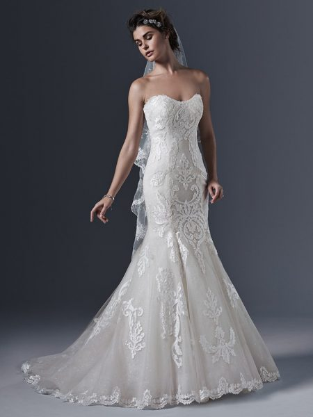Sweetheart Neck Lace Mermaid Wedding Dress by Maggie Sottero - Image 1
