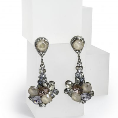 Multi Colored Swarovski Crystal Drop Earring by Maria Elena