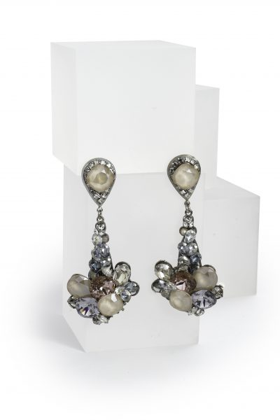 Multi Colored Swarovski Crystal Drop Earring by Maria Elena - Image 1