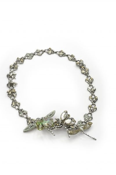 Silver Spring Dragonfly Halo With Swarovski Crystals by Maria Elena - Image 1
