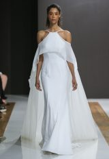 Halter Neckline Sheath Wedding Dress by Mark Zunino - Image 1