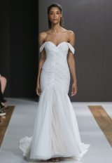 Off The Shoulder Ruched Mermaid Wedding Dress by MZ2 by Mark Zunino - Image 1