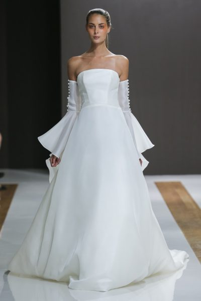 Strapless Natural Waist Ball Gown Wedding Dress by MZ2 by Mark Zunino - Image 1