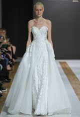 Sweetheart Neckline Floral Applique Strapless Ball Gown Wedding Dress by MZ2 by Mark Zunino - Image 1