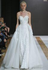 Sweetheart Neckline Floral Applique Strapless Ball Gown Wedding Dress by Mark Zunino - Image 1