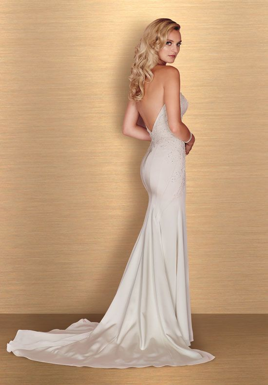Sweetheart Sstrapless Neck Fit And Flare Wedding Dress by Paloma Blanca - Image 2