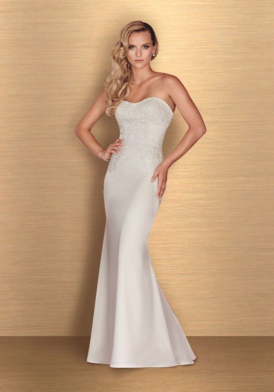 Sweetheart Sstrapless Neck Fit And Flare Wedding Dress by Paloma Blanca - Image 1
