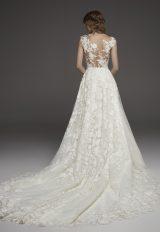 Illusion Lace Cap Sleeve A-line Wedding Dress by Pronovias - Image 2