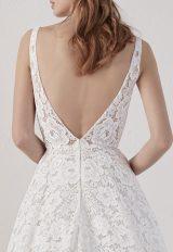 Sleeveless V-neck Lace A-line Wedding Dress by Pronovias - Image 2