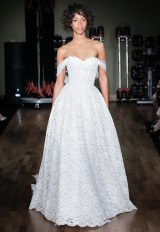 Full Lace Sweetheart Neck Ball Gown Wedding Dress by Rivini - Image 1