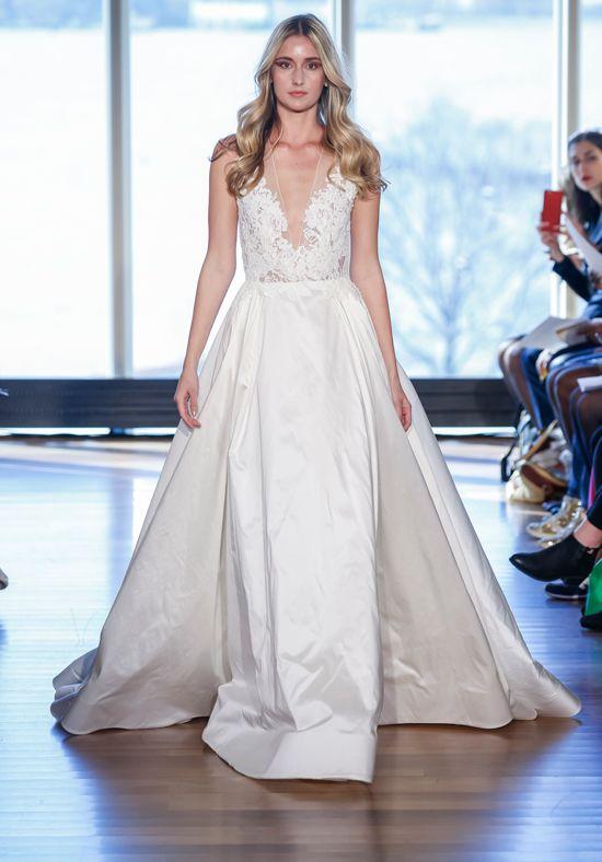 Illusion Lace Bodice Silk Ball Gown Wedding Dress | Kleinfeld Bridal