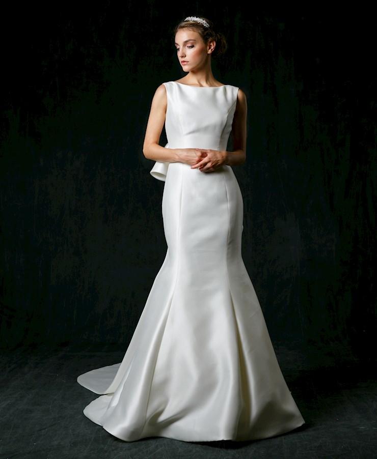 Wedding Gown Stores Nyc: Bateau Neckline Silk Fit And Flare Wedding Dress