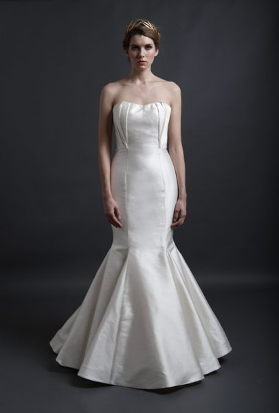 Strapless Sweetheart Neckline Fit And Flare Wedding Dress by Sareh Nouri - Image 1