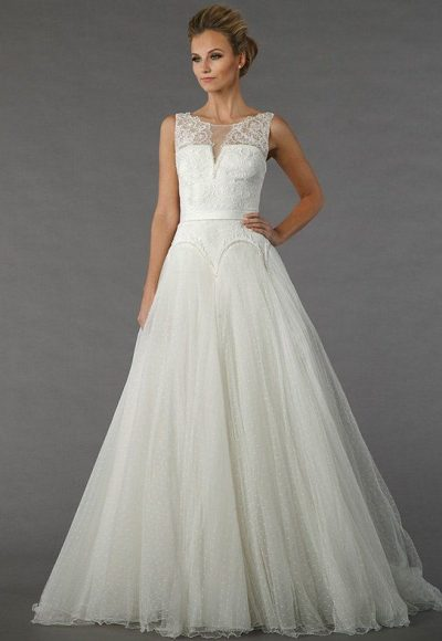 Beaded Sleeveless Bodice A-line Wedding Dress by Tony Ward