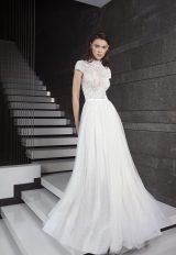Fully Beaded Short Sleeve Bodice Tulle Skirt Wedding Dress by Tony Ward - Image 1