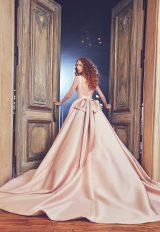 Bateau Neckline Full Ball Gown Low Back Wedding Dress by Sareh Nouri - Image 2