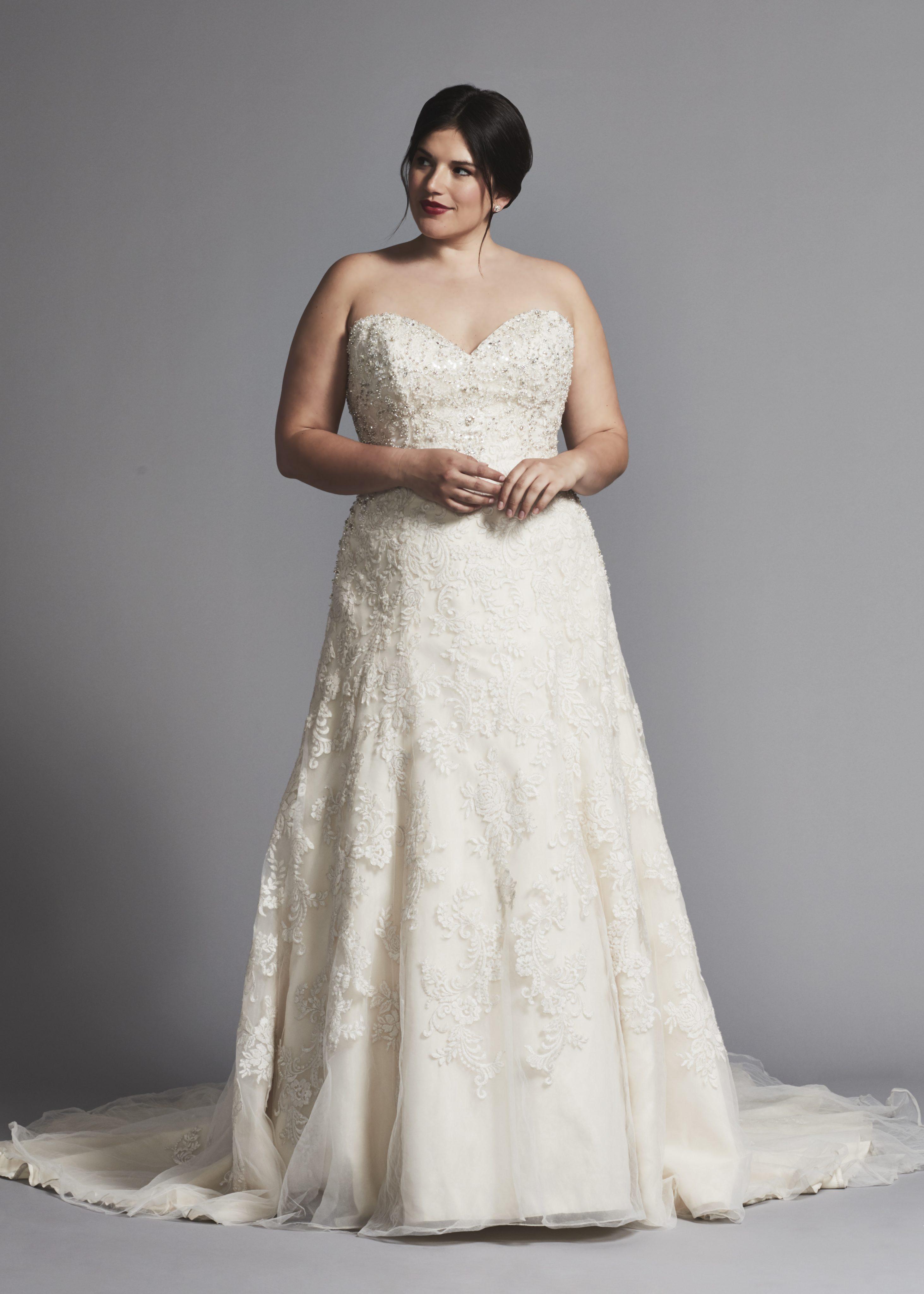 Strapless A-line Beaded Wedding Dress   Kleinfeld Bridal