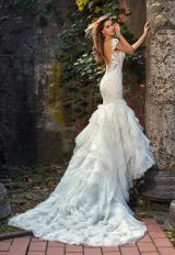Beaded And Embroidered Sweetheart Neck Bodice Fit And Flare Wedding Dress by Eve of Milady - Image 2