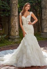 Beaded And Embroidered Sweetheart Neck Bodice Fit And Flare Wedding Dress by Eve of Milady - Image 1