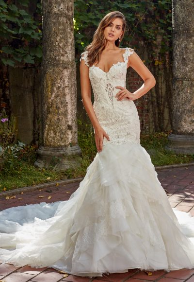 Beaded And Embroidered Sweetheart Neck Bodice Fit And Flare Wedding Dress by Eve of Milady
