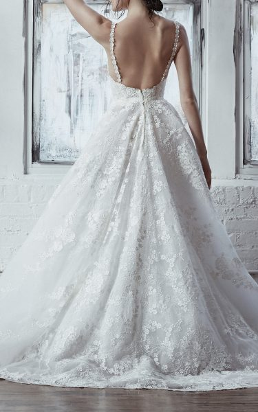 Ball Gown With Floral Embroidery Throughout by Isabelle Armstrong - Image 2