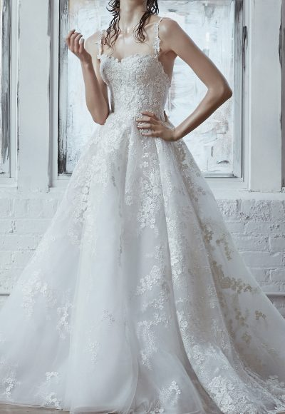 Ball Gown With Floral Embroidery Throughout by Isabelle Armstrong