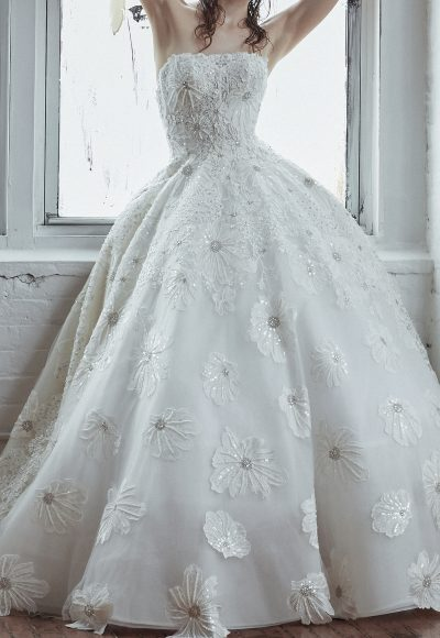 Strapless Ball Gown With Beaded Embroidery by Isabelle Armstrong