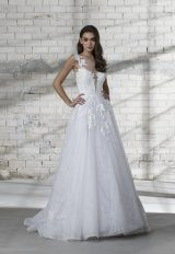 Illusion Top Lace Detailed A-line Wedding Dress by Love by Pnina Tornai - Image 1