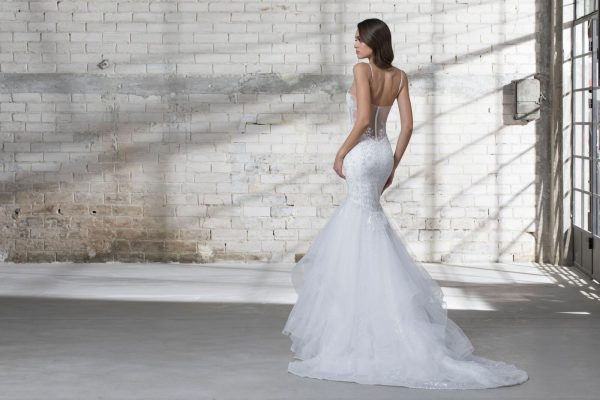 Mermaid Spaghetti Strap Wedding Dress by Love by Pnina Tornai - Image 2