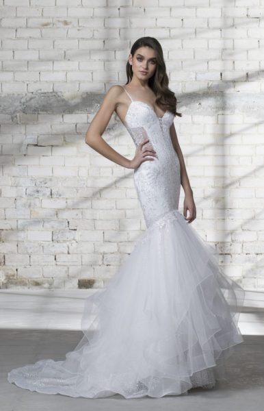 Mermaid Spaghetti Strap Wedding Dress by Love by Pnina Tornai - Image 1