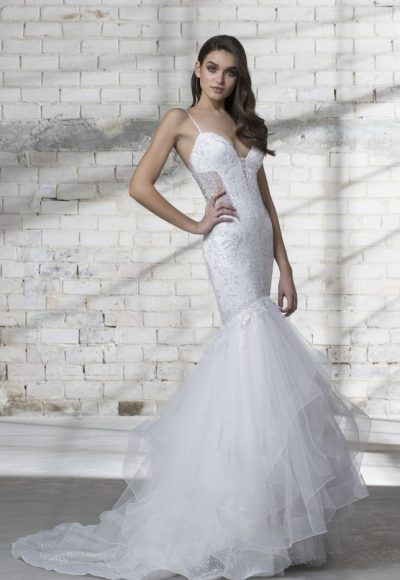 Mermaid Spaghetti Strap Wedding Dress by Love by Pnina Tornai