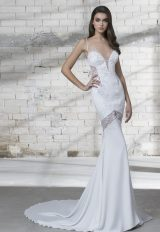 Sexy Deep Sweetheart Neck Spaghetti Strap Wedding Dress by Love by Pnina Tornai - Image 1