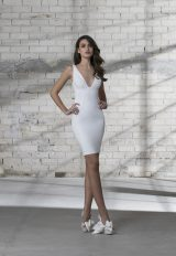 Sleeveless V-neck Short Wedding Dress by Love by Pnina Tornai - Image 1