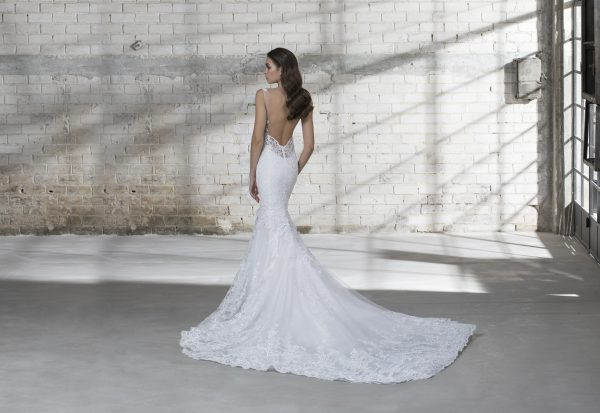Sleeveless V-neck Lace Mermaid Wedding Dress by Love by Pnina Tornai - Image 2