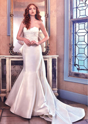 Sweetheart Lace Bodice Fit And Flare Wedding Dress by Sareh Nouri - Image 1