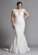 Cap Sleeve Lace Mermaid Wedding Dress by Tony Ward - Image 1