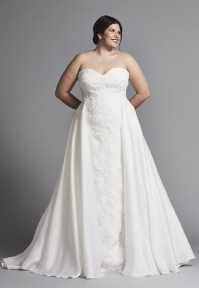 Strapless Sheath Wedding Dress With Attached Skirt by Tony Ward