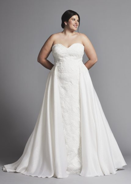Strapless Sheath Wedding Dress With Attached Skirt by Tony Ward - Image 1