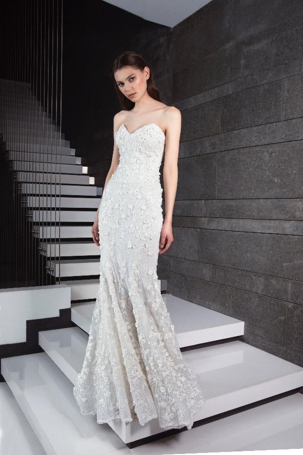Sweetheart Neckline Strapless Beaded Wedding Dress by Tony Ward - Image 1